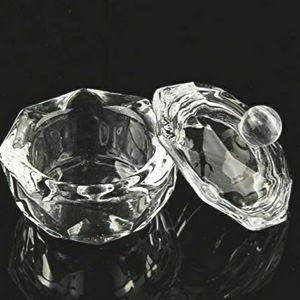 2Pcs Crystal Nail Art Dappen Dish
